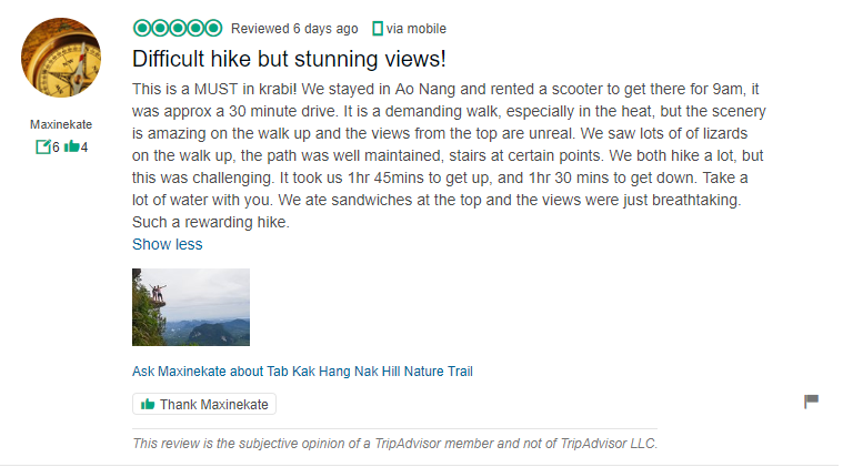 Tab kak Hang Nak Hill Nature Trail Review 1