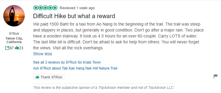 Tab kak Hang Nak Hill Nature Trail Review 2