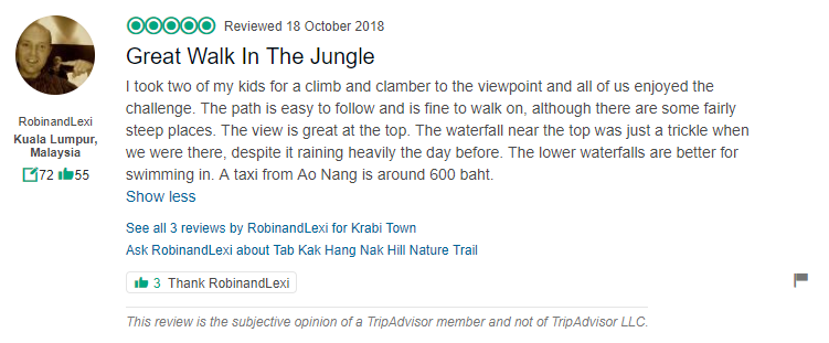 Tab kak Hang Nak Hill Nature Trail Review 3