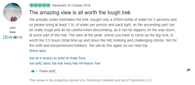 Tab kak Hang Nak Hill Nature Trail Review 4